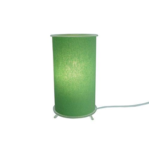 Abajur Cilíndrico Revestido com Tecido Liso Crie Casa Verde