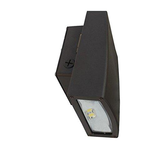 Slimline Wallpack (Morris 71390 LED Slim Line Combo Wallpack/Floodlight, 20W, 5000 K, 1874 lm, 120-277V, Bronze)