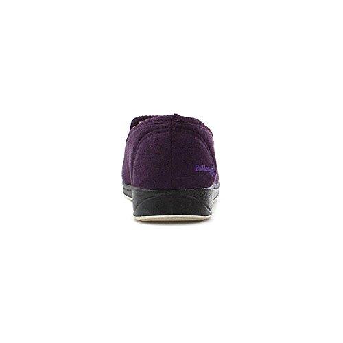 Padders Womens Memory Foam Viola Slip On Slipper Purple