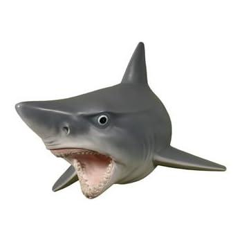 Amazon Com Wall Mounted Great White Shark W Teeth Head