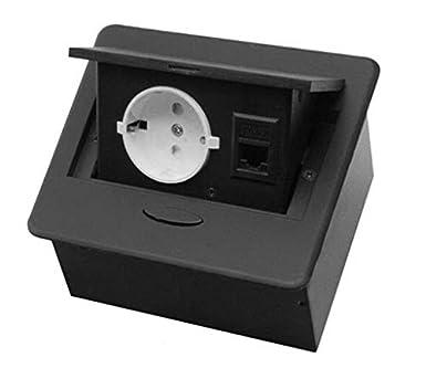 USB Versenkbar Schreibtisch Einbausteckdose Tischsteckdose Aufbausteckdose
