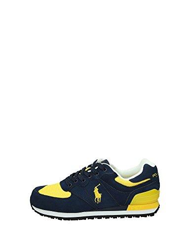 POLO RALPH LAUREN hombre bajas zapatillas de deporte A85 XZ4VT XY4VT XW4T1 Slaton PONY Azul / amarillo