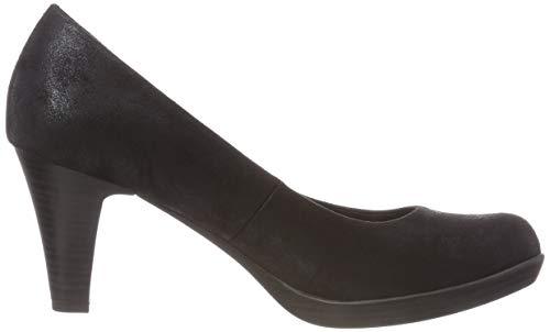 Negro Tacón 2 2 Marco Mujer 033 Tozzi Metallic 033 Zapatos Para 31 black 22411 De TTRWPw8xr