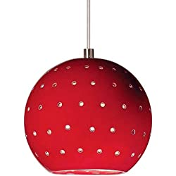 "A19 LVMP17 Lunar 5"" Mini Pendant from The Collection, Matador Red"