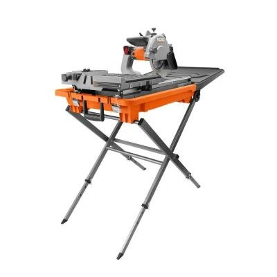 Ridgid 8 inch tile and paver saw with stand and laser