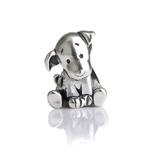 Brand New Dog Puppy Sterling Silver Charm Bead S925, Cute Dog Puppy Silver Charm Bead pendant, Animal Pet Charm Labrador Jewelry, Pandora compatible Charm