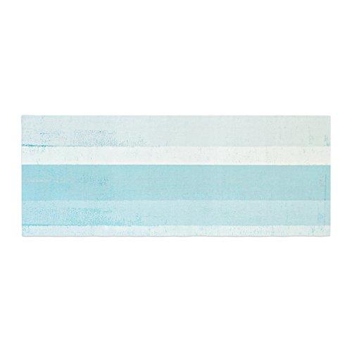 Kess InHouse CarolLynn Tice Waves Blue Aqua Bed Runner, 34'' x 86'' by Kess InHouse