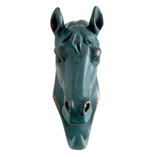 HERNGEE Horse Head Single Wall Hook/Hanger Animal Shaped Coat Hat Hook Heavy Duty, Rustic, Decorative Gift, Rustic Bronze Color (Towel Hooks Head Animal)