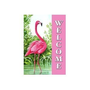 Amazoncom Flamingo Welcome Garden Flag Mini Pink Bird Water