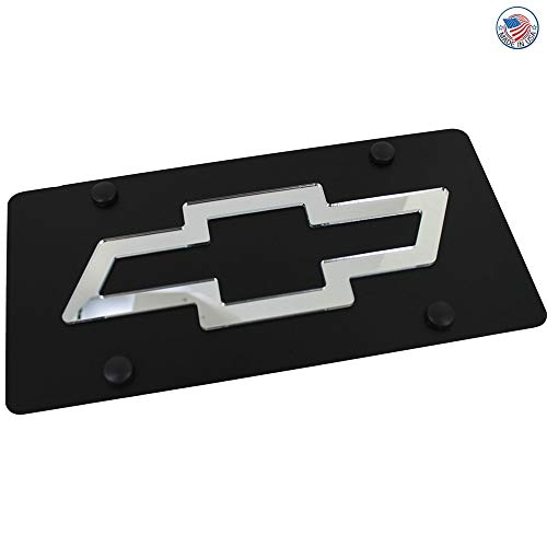 Eurosport Daytona- Compatible with -, Chevrolet Bowtie License Plate on Carbon Steel