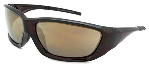 Edge I-Wear Sports Safety Sunglasses ANSI Z87+ Color Mirror Lens 570071/REV-2(CLBRN.gm) - Edge Sport Sunglasses