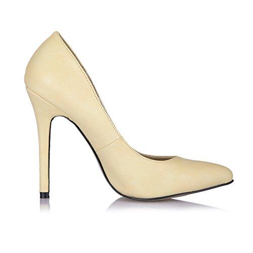 Nouveau ressort très bien des chaussures de talon noir rouge points intéressant la vie nocturne sauvage cliquez sur les chaussures yellow pattern PU Igo0h7Sdbz