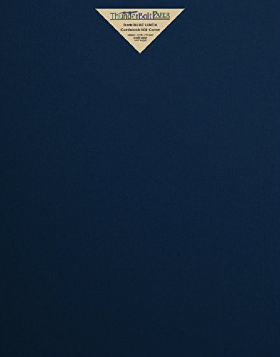 20 Dark Navy Blue Linen 80# Cover Paper Sheets - 11