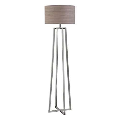 (Innovations Keokee Contemporary Polished Stainless Steel Floor Lamp)