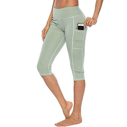 - TOTOD 2019 Lastest Yoga Shorts, Women's Solid Color Tights Workout Pants Running Leggings with Pocket Green