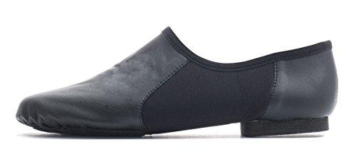 Cerco Black Jazz Shoes By Dance Sizes Suede Pull On Practice PU Katz Dancewear Jive Sole Split All Modern qzrqHwU