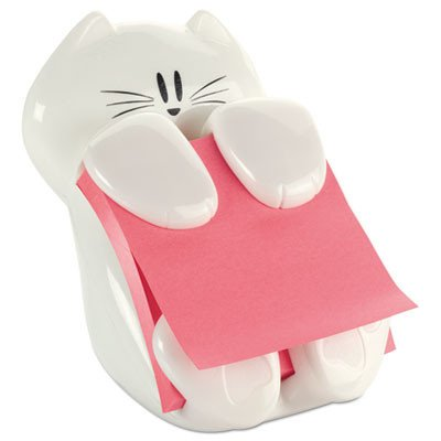 Post-it Pop-Up Note Dispenser Cat Shape, 3 x 3, White by Post-it