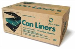 Greencore Recycled Plastic Can Liners 55 Gal (Black) - Case of 100 by Greencore