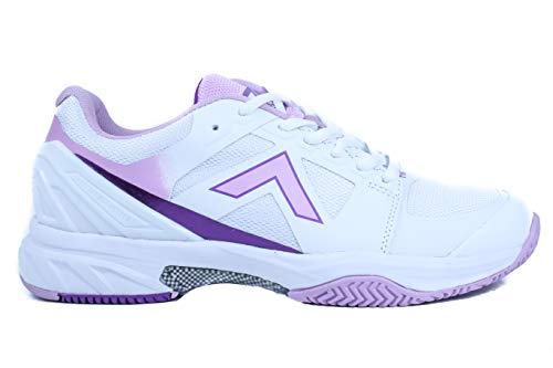 Tyrol Women's Striker Pro Series Pickleball Shoe (8, White/Purple)