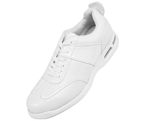 Sneakers Basse Di Sio Con Disegni Di Venature Morbide E Ciottolose, Braun, Saxon Bianco