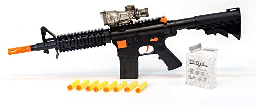 M16 Single (Yang Kai 2 in 1 M16 Dart and Gel Ball Blaster Single Shot Rifle Gun Toy)