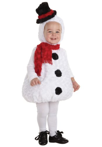 Snowman Baby Costumes (Underwraps Baby's Snowman Bally, White/Black/Red, X-Large)