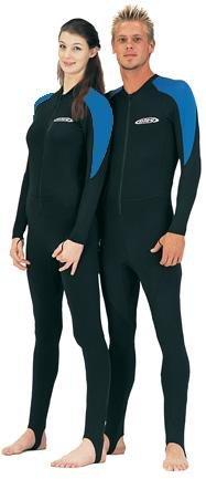 New Tilos Lycra Full Skin Suit for Scuba Diving & Snorkeling (Blue/Black - Size Medium-Large/Unisex)