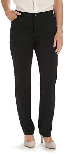 LEE Women's Relaxed Fit All Day Straight Leg Pant, Black, 12 Short