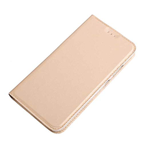 Huawei P10 Case, UNEXTATI Ultra Slim Wallet Flip Case with Card Holder and Magnetic Closure, Full Body Protection Bumper Cover for Huawei P10 (Gold #1) by UNEXTATI (Image #2)
