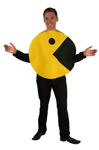 InCogneato Men's Pac-Man 2D Profile Adult (Pac Man Halloween Costume)