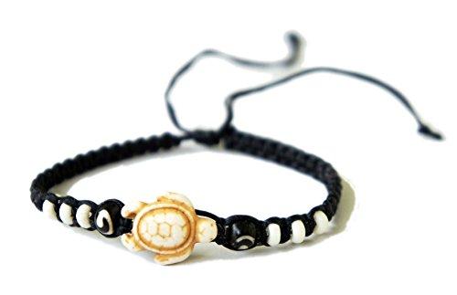 Exoticdream Brown Turtle Macrame Bracelet Hemp Handmade Reggae Jamaican Hawaiien Style