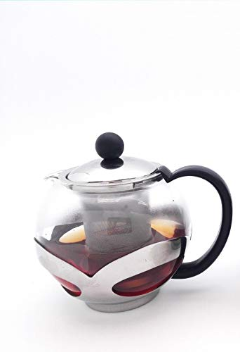 TkUniware 2 PCS Kitchen, Dining & Bar Stainless Steel Glass Teapot with Filter/Infuser 750ml A10035/33 from TkUniware