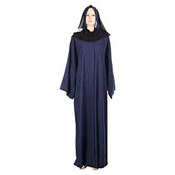 Abuhaliqa Blue Casual Abaya For Women