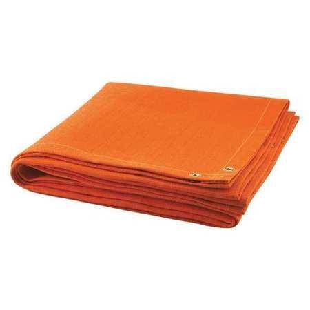 Welding Blanket, 10 ft. W, 6 ft., Orange