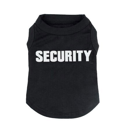 BINGPET Security Dog Shirt Summer Clothes for Pet Puppy Tee Shirts Dogs Costumes Cat Tank Top Vest-XXL -