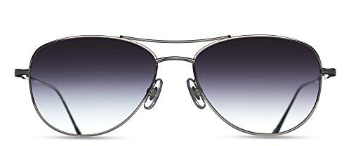 Matsuda - M3041 - PW-NAV.SG.53 - Palladium White/Navy - Grey Grad - - Matsuda Eyewear