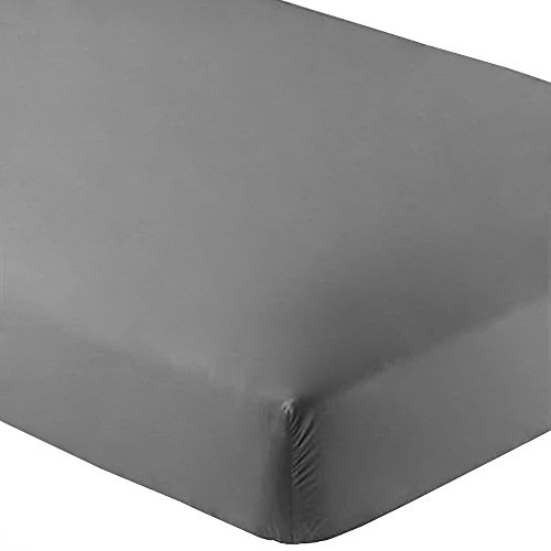 Bare Home Fitted Bottom Sheet Twin Extra Long - Premium 1800 Ultra-Soft Wrinkle Resistant Microfiber, Hypoallergenic, Deep Pocket - (Twin XL, Grey) ()