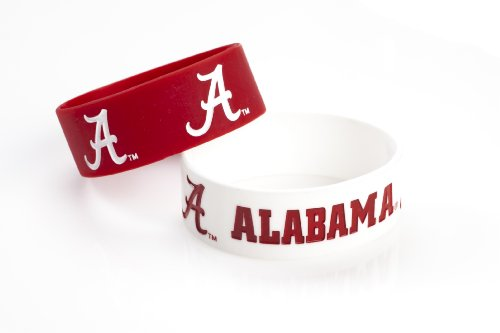 NCAA Alabama Crimson Tide Silicone Rubber Bracelet, 2-Pack
