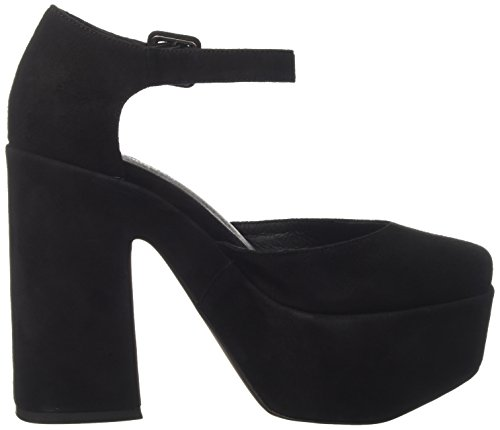 Jeffrey Campbell Women's Jeneve Suede Closed Toe Heels Black (Nero) XjD19F