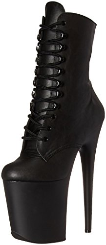 Blk Matte Bottines 1020 Faux Pleaser Femme Leather Flamingo Blk qBSxOw7