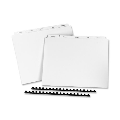 Avery Copier Tab Dividers, Unpunched, 5 Tab, White, 30 Sets (20405)