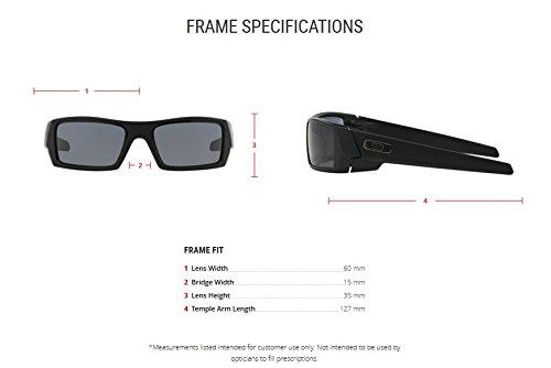 Oakley Men's Gascan Rectangular Sunglasses, Matte Black /Grey, 60 mm