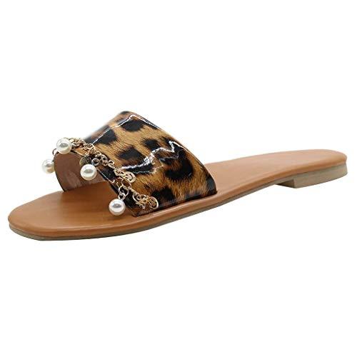OrchidAmor Fashion Women RomanLeopard Metal Rhinestone Ankle Strap Buckle Retro Sandals 2019 Brown]()