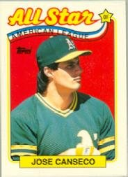 Amazoncom 1989 Topps Tiffany Baseball Card 401 Jose Canseco Near