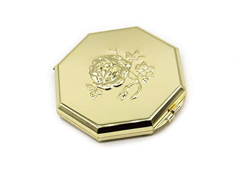 (Ladies Compact Mirror, Small Elegant Collectible Pocket Mirrors for Your Purse - Perfect for Travel - 3X/1X Magnification Vintage Handheld Makeup Mirror For All Your Personal Needs, Order Now!)