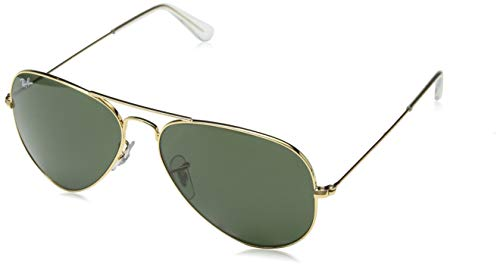 Ray-Ban RB3025 Aviator Flash Mirrored Sunglasses, Matte Gold/Brown Mirror Gold, 58 ()