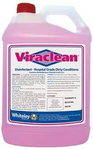 VIRACLEAN HOSPITAL GRADE DISINFECTANT 5 LITRE BOTTLE EACH