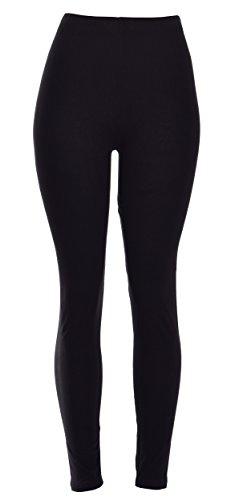 COTTON Solid Full Length Leggings (VP103-BLACK)