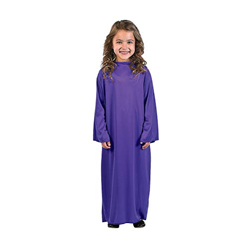Fun Express - Child Small Purple Nativity Gown for Christmas - Apparel Accessories - Costumes - Kids - Unisex Costumes - Christmas - 1 ()