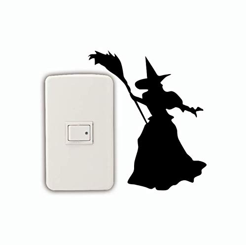 LJTSDA of Silhouette Switch Sticker Wizard of Oz Vinyl Wall Decal Halloween Decor Stickers3pcs -